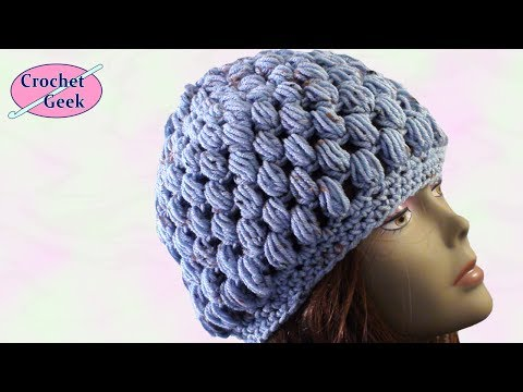 Crochet Geek - Crochet Puff Stitch Hat