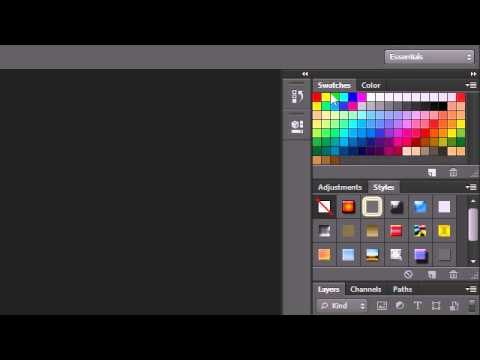 Photoshop Tutorial - 1 - Working with Panels
