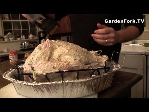 How to cook roast turkey or chicken GardenFork.TV