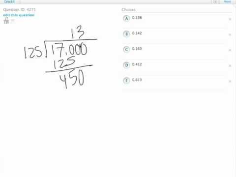 Grockit GMAT Quantitative - Problem Solving: Question 4271