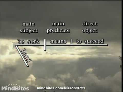 Advanced Grammar: Diagramming Verbals Part 1