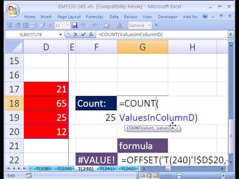 Excel Magic Trick #240: Dynamic Range New Data At Top