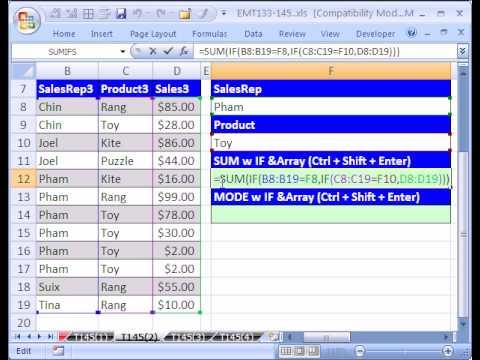 Excel Magic Trick #145 p2 MODE IF