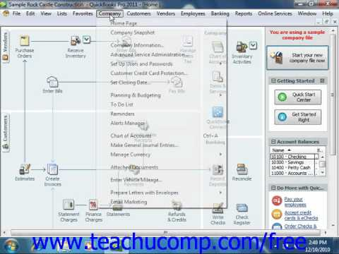 QuickBooks 2011 Tutorial Using the To Do List Intuit Training Lesson 25.3