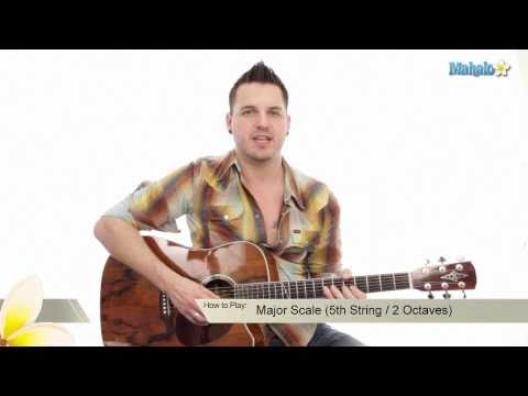 How to Play the Major Scale on Guitar (5th String : 2 Octaves)