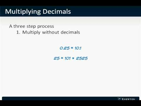 GMAT Prep - Math - Arithmetic - Multiplying Decimals by Knewton