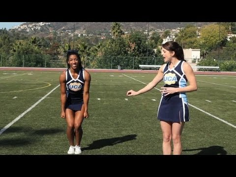 Cheerleading Jumps: Toe Touch