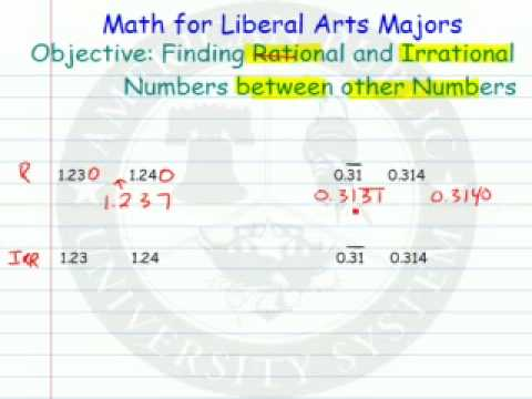 Rational or Irrational Numbers Between other Numbers