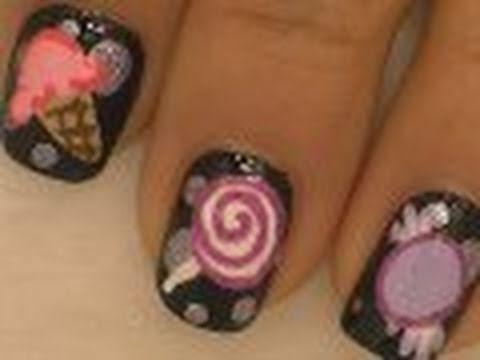 Sweets Nail Art / Arte para las uñas con diseño de  dulces