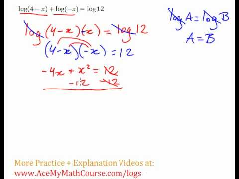 Logarithms - Log Equation #5 (Example + Explanation)