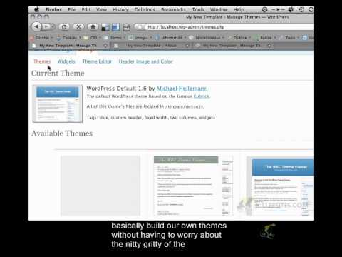 Wordpress Theme From Scratch Closed Captioned - Setting Up Wordpress Part 2