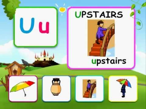 Alphabet reading for kids - U