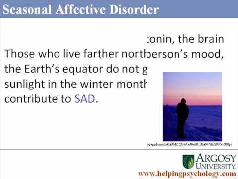 Winter Blues: Seasonal Affective Disorder