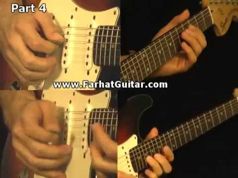 hotel california - the Eagles Full Guitar with backing track www.Farhatguitar.com