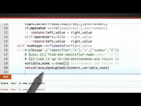 Variable Lookup Solution - CS262 Unit 5 - Udacity