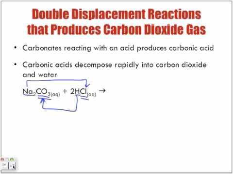 Reactions of Aqueous Solutions Forming Carbon Dioxide Gas