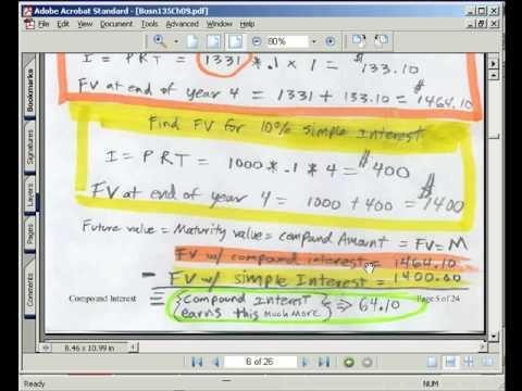 Excel Busn Math 56: Compound Interest & Future Value