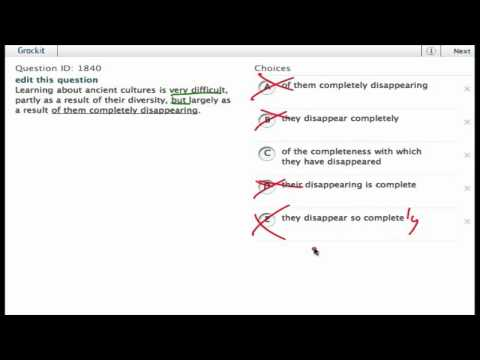 Grockit SAT Writing - Improving Sentences: Question 1840