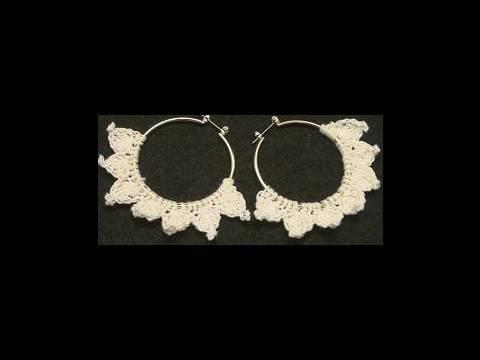 Crochet Geek - Crochet Hoop Earring 1 - Nicole