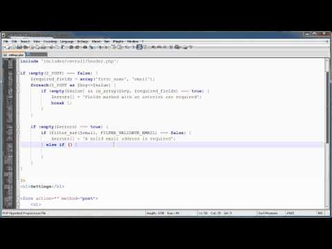PHP Tutorials: Register & Login (Part 15): User Settings (Part 2)