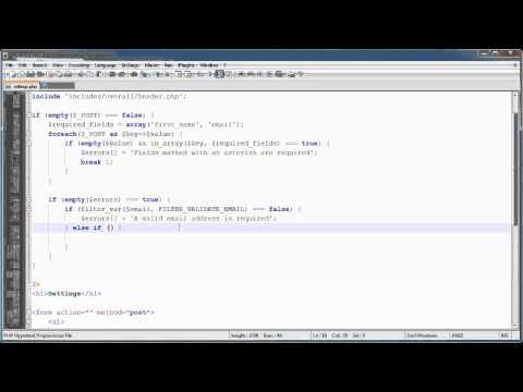 PHP Tutorials: Register & Login (Part 15): User Settings (Part 2)