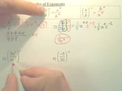 7.4 Division Properties of Exponents - Algebra 1