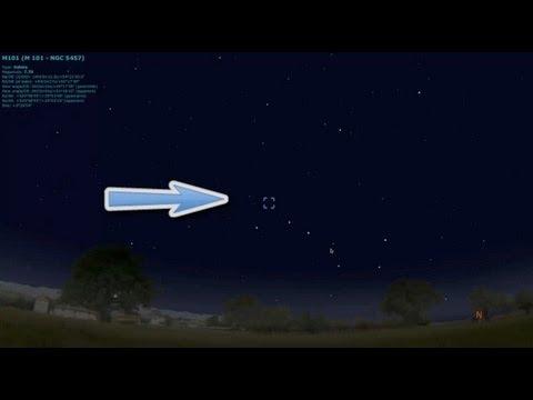 Where Is The Supernova - 2011fe - Type IA - Pinwheel Galaxy NGC 5457 M101 Location - Stellarium