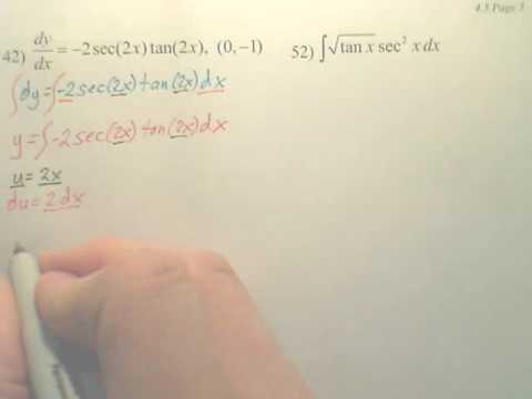 4.5c1 Integration by Substitution - Calculus