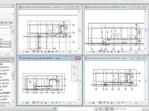 Revit MEP 2012 Tutorial - Initial Plan Views