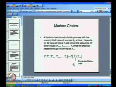 Mod-05 Lec-22 Markov Chains - I