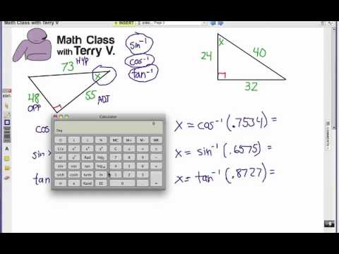 How to Solve Right Triangles: Problem Set 2