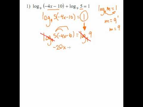 Logarithms - Log Equation #1