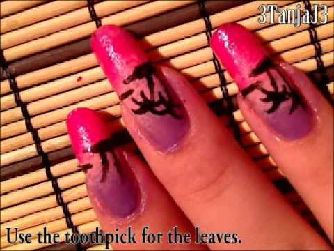 *Palm Tree Sunset* - Nail Art Design