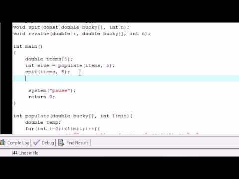 C++ Tutorial - 28 - Changing Array Values with Functions