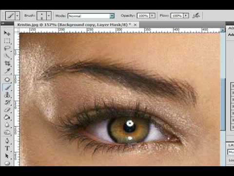 Darkening Edges Of Eyes Blending Photoshop CS4 Lesson 5