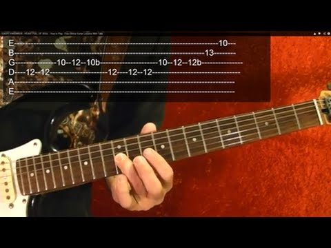 MONEY Solo Guitar Lesson by PINK FLOYD ( 1 of 3 ) WITH TABS