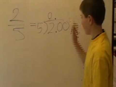 Mr Ds Maths Class fraction to a decimal