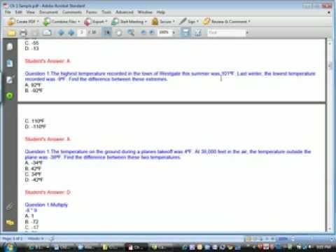 Algebra 1 test review ch1