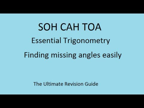SOHCAHTOA - the trick to finding angles in maths trigonometry