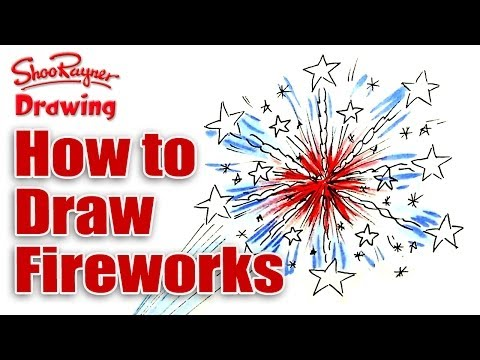 How to draw fireworks for the 4th of July
