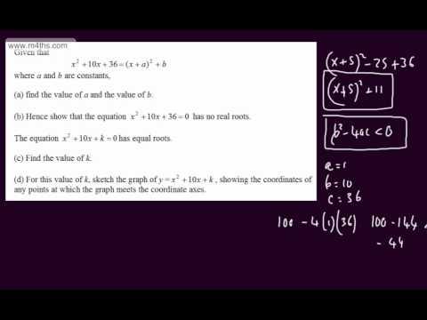 (Q8) Core 1 Specimen Edexcel Paper