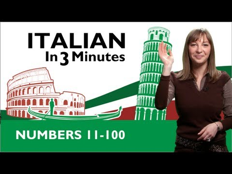 Learn Italian - Italian Numbers 11-100