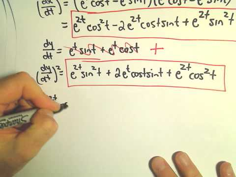 Arc Length of a Parametric Curve, Another Example #2