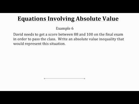 Equations Involving Absolute Value PT 2