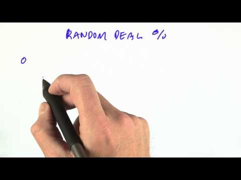 Hand Frequencies - CS212 Unit 1 - Udacity