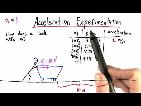 Mass and Acceleration - Intro to Physics - What causes motion - Udacity