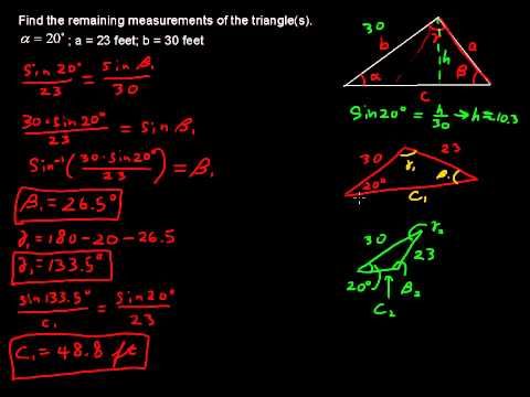 The Ambiguous Case - Precalculus Tips