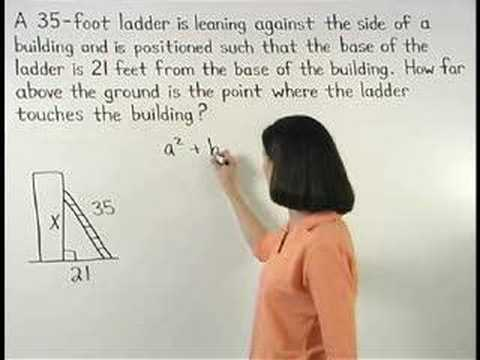 Pythagorean Theorem Word Problems -YourTeacher.com - Math Help