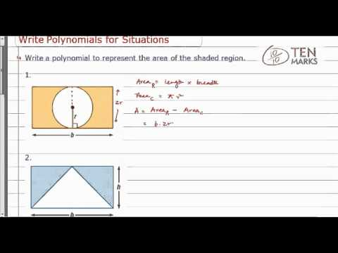 Write Polynomials for Situations