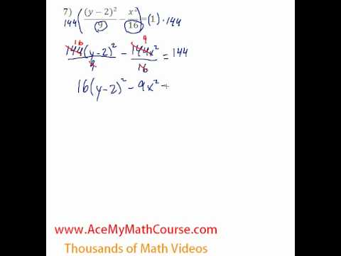 Conics - Standard to General #7